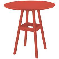 Mesa Pub Redonda De Madeira Vermelha 91453080 Tramontina -