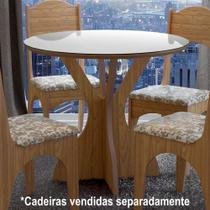 Mesa Redonda MDF 90cm 4 Lugares TM10 Dalla Costa -