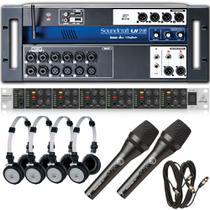 Mesa Soundcraft Ui16 + PowerPlay Ha6000 + Fone 414P + Brinde -
