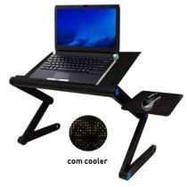 Mesa Suporte Notebook c/ Cooler Mouse Pad Articulado Laptop - Atual Mix