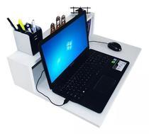 Mesinha compacta suspensa para notebook sem fundo com kit de instalação fred planejados -