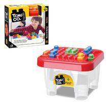 Mesinha Didática Com 78 Blocos de Montar Tchuco Blocks - Samba Toys