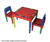 Mesinha Infantil Com 2 Cadeiras De Plástico Mesa Educativa Didática - Tritec