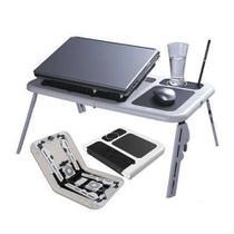 Mesinha Notebook Cooler Mesa Dobrável USB Ajustável Ergonômico Suporte Caneta - Alcateia