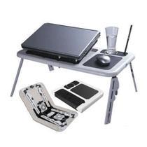 Mesinha Notebook Cooler Mesa Dobrável USB Ajustável Ergonômico Suporte Caneta - Dc importação