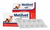 Metilvet 10mg Anti Inflamatório Vetnil 10 Comprimidos - Agropet Nutrimed