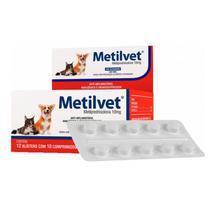 Metilvet 10mg Anti Inflamatório Vetnil 10 Comprimidos -