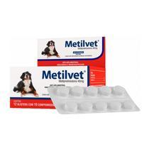 Metilvet 40mg Anti Inflamatório Vetnil 10 Comprimidos -