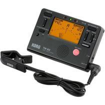 Metrônomo Afinador Digital Com Microfone Korg Tm60c Bk -