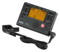 Metronomo-afinador digital korg com mic - tm-60c-bk -