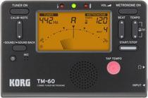 Metronomo-afinador digital korg compacto - tm-60-bk -