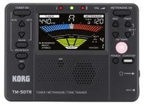 Metronomo afinador treinador digital korg compacto tm50tr-bk -
