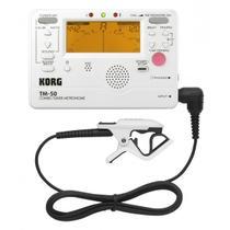 Metronomo c/afinador korg tm-50c-pw digital c/microfone -
