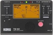 Metronomo c/afinador korg tm-60 bk (preto) -