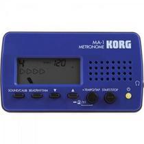 Metrônomo Digital Azul e Preto MA 1 KORG -