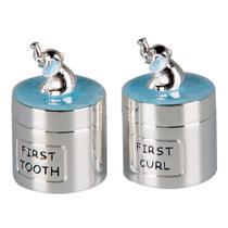 Meu primeiro Dente/Cachos Silverplate com Elefante 2 potes - Decorafast