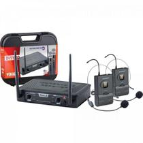 Mic s/fio headset duplo vokal dvs100dh -