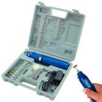 Micro Retífica à Bateria 3,6V Kit 62 Acessórios Bivolt R-60 WESTERN -