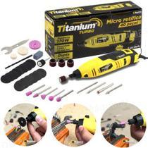Micro Retífica Profissional 1/8 40 Peças 170w 110v Titanium -