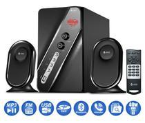 Micro System 2.1 Bluetooth 1000w Mp3 Fm Pc Bivolt Caixa Som - Infokit