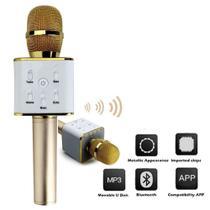 Microfone bluetooth karaoke sem fio com alto falante voice caixa de som portatil - Kangur