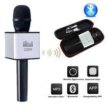 Microfone Bluetooth Karaoke Voice Preto Mk100 - Oex
