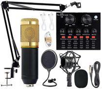 Microfone Bm 800 Estudio Gravação Profissional + Placa V8 - LOTUS