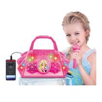Microfone Bolsa Infantil Caixa de Som luz Conecta Celular - Dm Toys