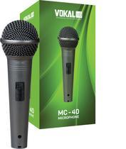 Microfone C/ Fio Mão Dinâmico Unidirecional Mc40 Vokal MC-40 -