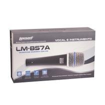 Microfone c/fio supercardioide c/cabo 3m c/cachimbo c/bag - lm-b57a - lexsen -