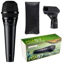 Microfone Cardioide Amplificado Pga57-lc Preto Shure -