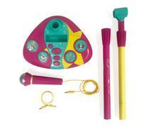 Microfone Com Base  Barbie- Karaokê Microfone Fabuloso 80070 - Fun