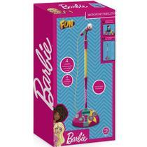 Microfone com Base Barbie Karaokê Microfone Fabuloso Fun -