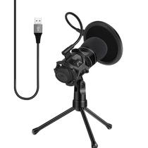 Microfone com Condensador Profissional Tripe Kit Youtuber Musica Filtro Pop - Ab Midia
