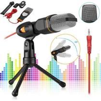 Microfone Com Fio Condensador Sf-666 Estúdio Pc -