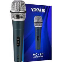 Microfone Com Fio de Mão Dinâmico Unidirecional MC-20 Vokal -