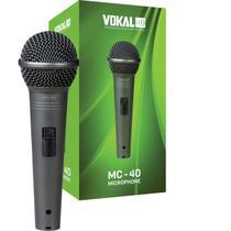 Microfone com Fio de Mão Dinâmico Unidirecional MC 40 Vokal -