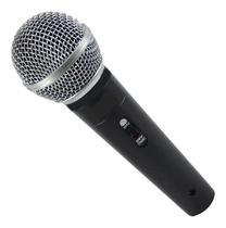 Microfone com Fio Dinâmico Karaokê Profissional Cabo 3 metros - High