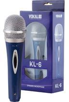 Microfone com fio Dinâmico Unidirecional Cardioid Vokal Kl6 -