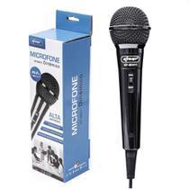 Microfone Com Fio Para Karaokê Palestras Gravações Knup KP-M0011 Dinâmico Novo Original -