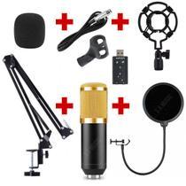 Microfone Condensador BM800 + Braço Suporte Articulado + Pop - Andowl, M1025 Ou L914