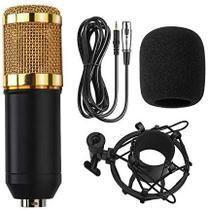 Microfone Condensador BM800 Profissional USB Gravação Estúdio Som Dinâmico Cabo de Áudio 3.5mm Microfone de Esponja -