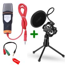 Microfone Condensador BM888 + Shock Mount + Pop Filter SF666 - S.a music
