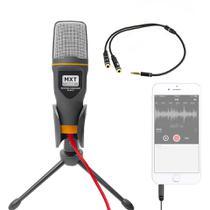 Microfone Condensador De Mesa + Adaptador Para Smartphone - Mxt