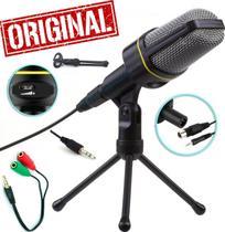 Microfone Condensador de Mesa Profissional Pc Celular Smartphone Universal Iphone Android Original Gravação de Vídeos - Leffa Shop