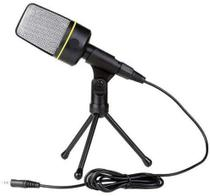 Microfone Condensador Multimídia Para Pc Gravar Video Youtuber Com Tripe QY-930 - Tomate