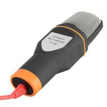 Microfone Condensador Para Gravaçao De Mesa Qualidade Profissional Com Tripe Para Notebook e Computador Preto (BSL-RADIO-2) - Braslu