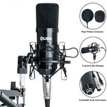 Microfone condensador profissional - liba  - cor: (preto) -