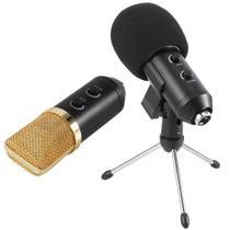 Microfone condensador usb estúdio BM100FX pedestal articulado GT648 - Lorben -