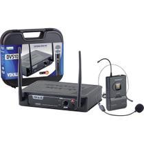 Microfone de Cabeça Sem Fio Headset - DVS100SH - VOKAL -
